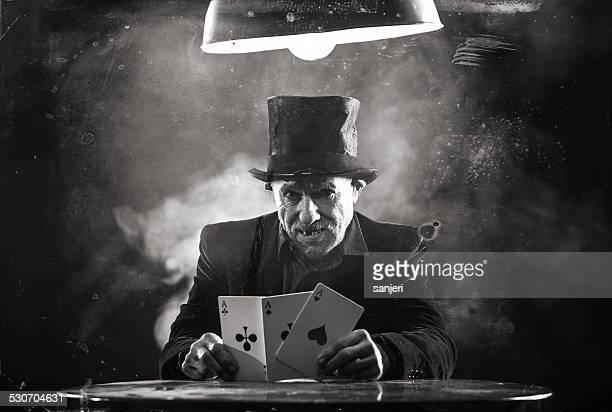 Vintage Porträt-poker player
