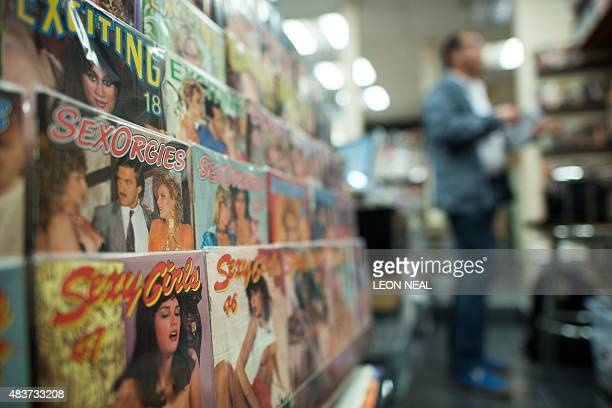 Vintage pornographic magazines on show at Ram Books in north London on August 4 2015 Once upon a time before the Internet pornography fans collected...