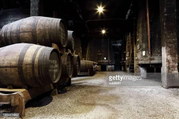 Vintage Porto wine cellar