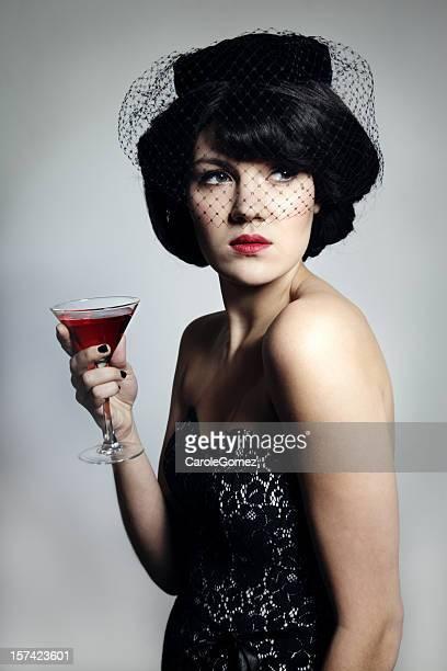 Vintage Portrait d'un Cocktail