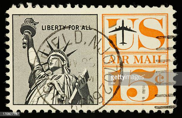 US vintage postage stamp air mail liberty  15 cents