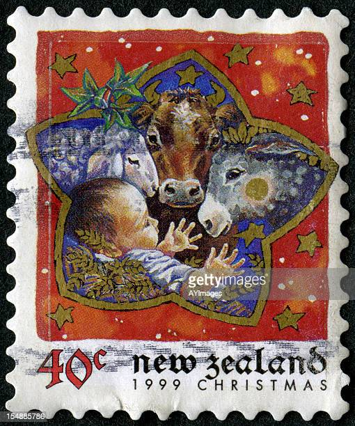 Vintage postage stamp from New Zealand