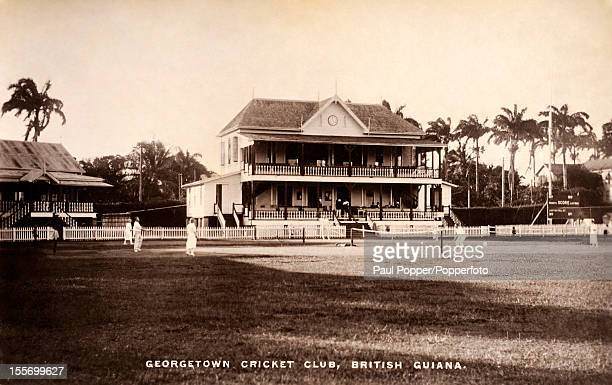 A vintage postcard featuring a view of the Georgetown Cricket Ground in British Guiana circa 1910 British Guiana went on to become Guyana after...