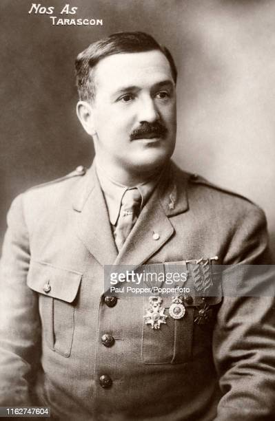 A vintage postcard featuring the French flying ace Paul Tarascon who despite an amputated foot fought in both World War One and Two winning the...