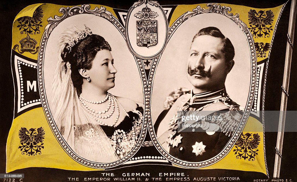 Kaiser Wilhelm II And Empress Auguste Victoria of Germany : News Photo