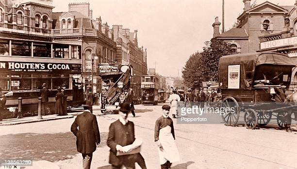 A vintage postcard of Highbury Corner in Islington north London circa 1910