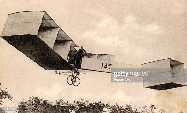 Vintage postcard of the pioneer Brazilian aviator Alberto SantosDumont winner of the Archdeacon Prize for the first officially observed flight...