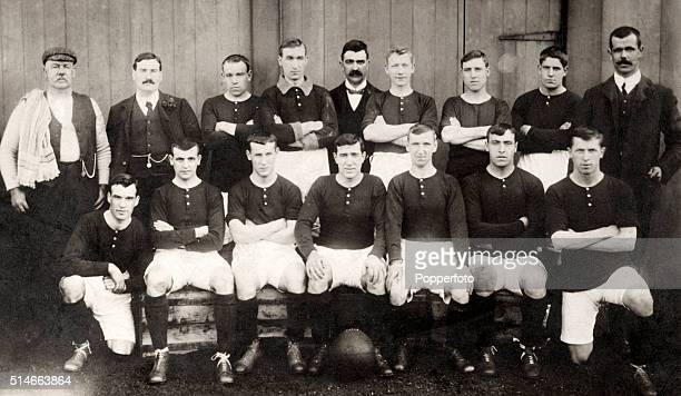 A vintage postcard of the Woolwich Arsenal football team circa 19041905 Back row left to right R Drummond P Kelso Archie Gray James Ashcroft J Grant...