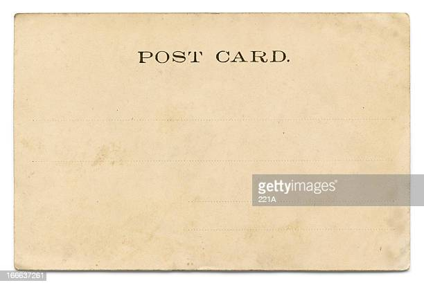 vintage postcard on white - postcard stock pictures, royalty-free photos & images