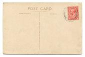 Vintage postcard on white