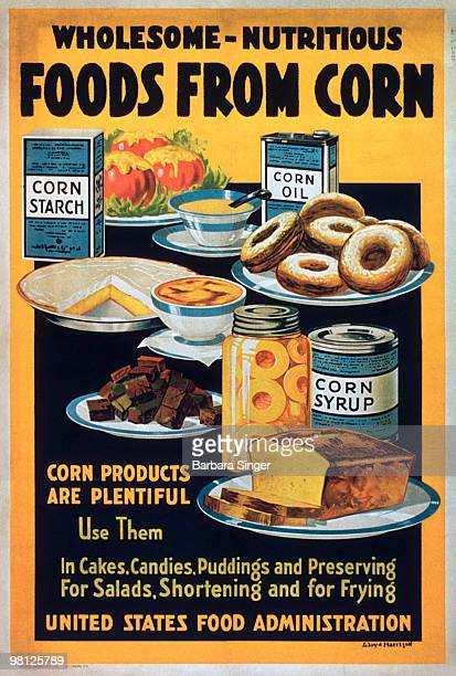 Vintage poster of corn products