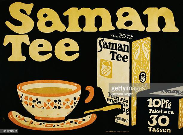 Vintage poster of cup of tea