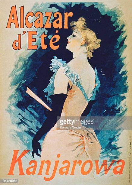 Vintage poster of elegant woman