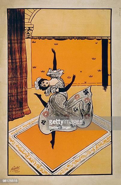 Vintage poster of woman dancing