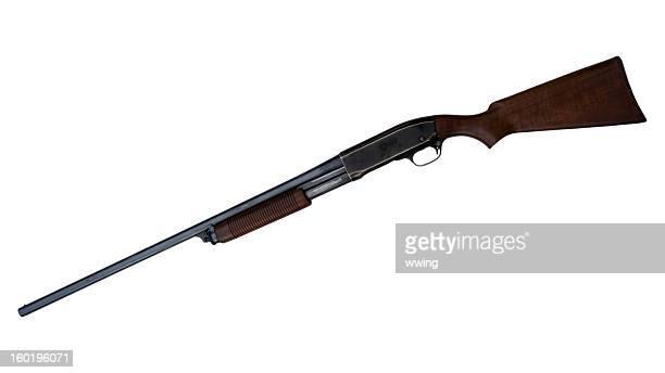 vintage pump shotgun - shotgun stock pictures, royalty-free photos & images