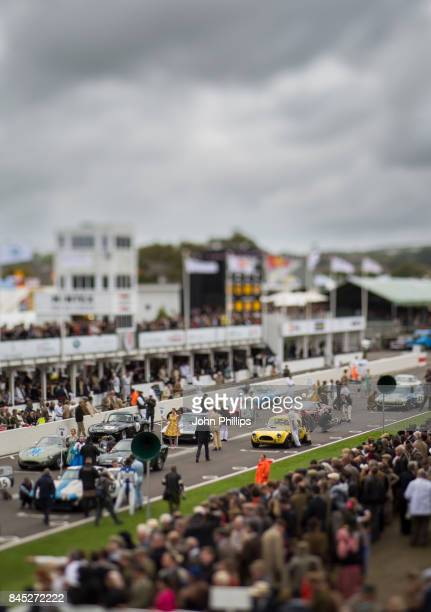 Vintage race cars takes part in a race during the Goodwood Festival at Goodwood on September 10 2017 in Chichester England
