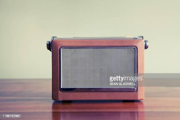 vintage radio - radio stock pictures, royalty-free photos & images