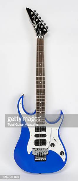 A Vintage Raider VR2000 electric guitar with an Electric Metallic Blue finish taken on January 4 2008
