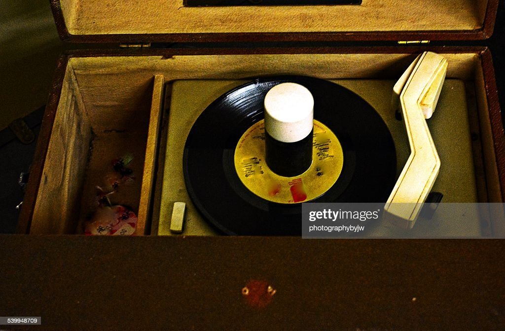 Vintage Record Player : Stock Photo