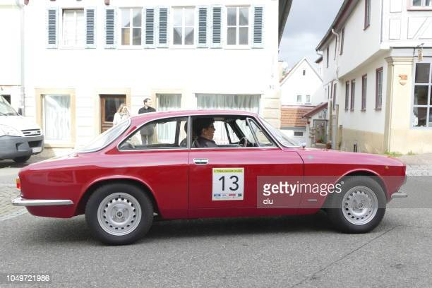 Vintage red Alfa Romeo spider
