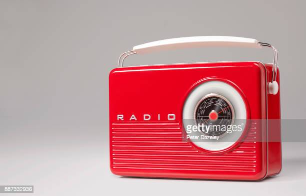 vintage retro portable radio - radio stock pictures, royalty-free photos & images