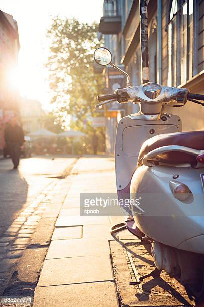 Vintage scooter in Krakow, Kazimierz district