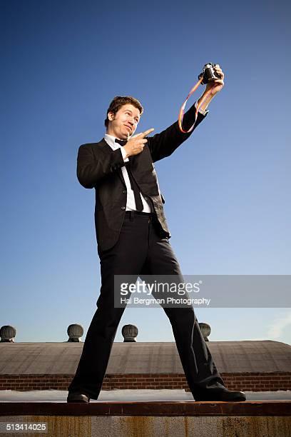 Vintage Selfie Photographer