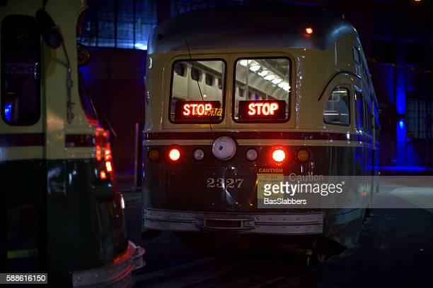 vintage septa trolleys in philadelphia, pa - basslabbers, bastiaan slabbers stock pictures, royalty-free photos & images