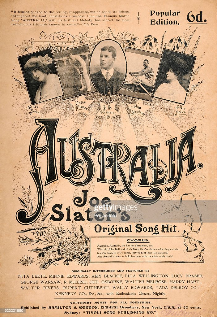A vintage sheet music cover for the popular song