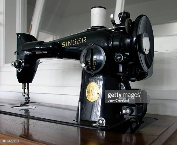 DENVER COLO NOVEMBER 9 2004 A vintage Singer sewing machine in the upstairs sleeping porch / sun room of the the Buchtel Bungalow 2100 S Columbine St...