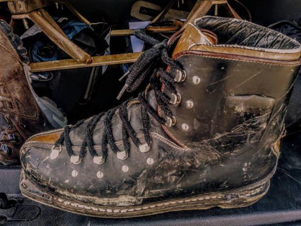 vintage ski boot