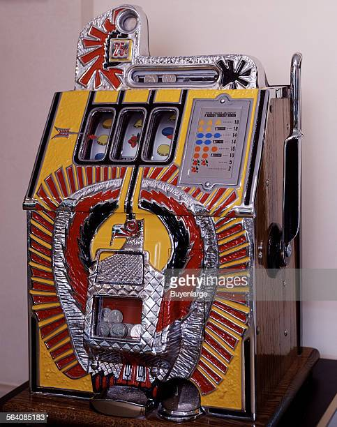 Vintage slot machine at the Casino Legends Hall of Fame at the Tropicana Hotel and Casino in Las Vegas Nevada