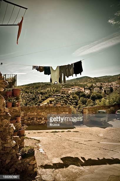 vintage sur de italia village (calabria región) - calabria fotografías e imágenes de stock