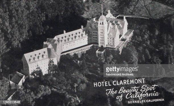 Vintage souvenir postcard published circa 1931 depicting the elegant crown jewel of San Francisco's East Bay, the Hotel Claremont, constructed in...