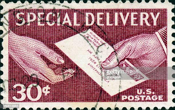 Consegna speciale francobollo Vintage