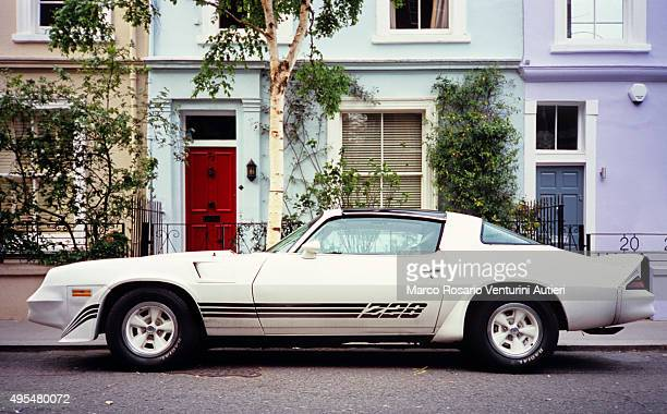 Vintage sport car, Notting Hill (Chevrole Camaro Z28)
