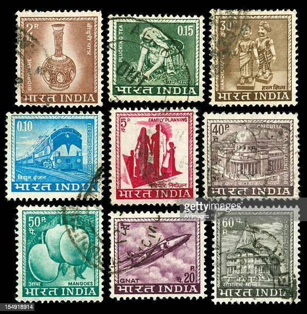Vintage stamps of India
