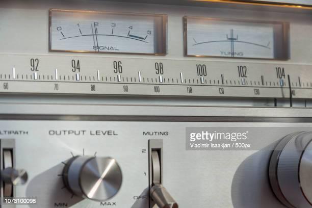 vintage stereo tuner - verstärker stock-fotos und bilder