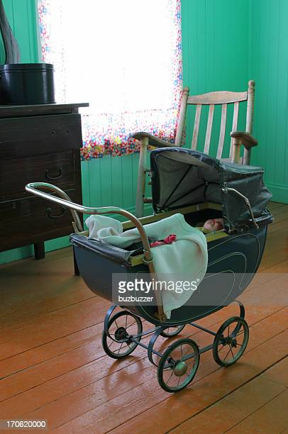 vintage stroller - ancient stock pictures, royalty-free photos & images