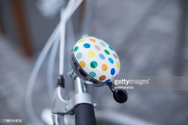 vintage style bicycle bell - glocke stock-fotos und bilder