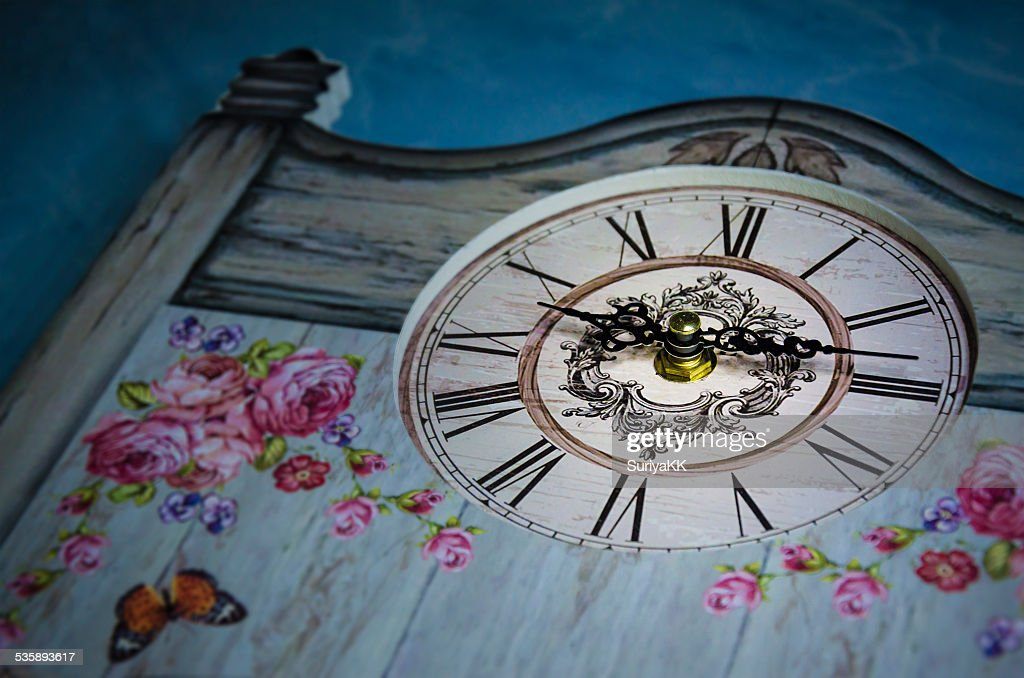 Vintage style clock : Stock Photo