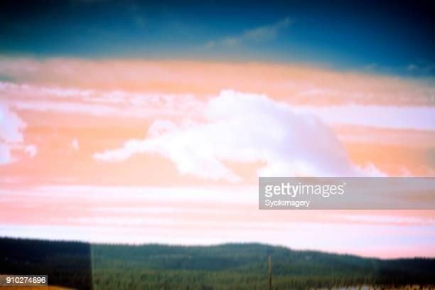 Vintage style cloudscape/landscape