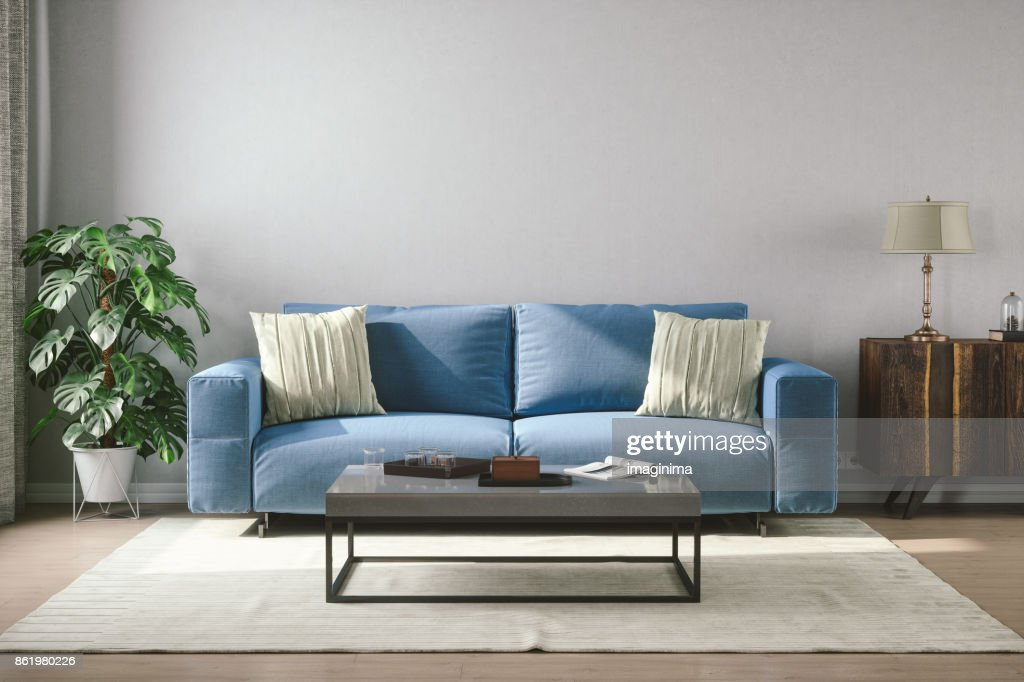 Vintage Style Living Room : Stock Photo