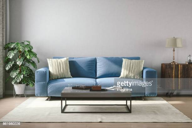 vintage style living room - sofa stock pictures, royalty-free photos & images