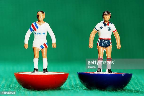 Vintage Subbuteo soccer player miniature toy