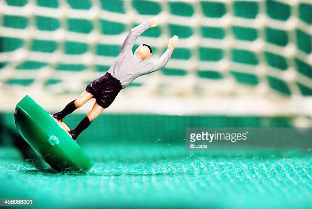 Vintage Subbuteo Fußballspieler Miniatur-Spielzeug