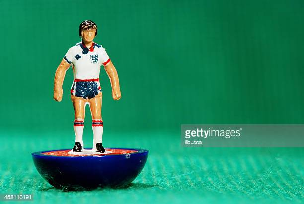 vintage subbuteo soccer player miniature toy - world cup stock photos and pictures