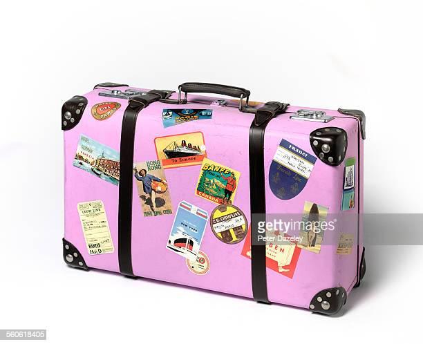 vintage suitcase - koffer stock-fotos und bilder