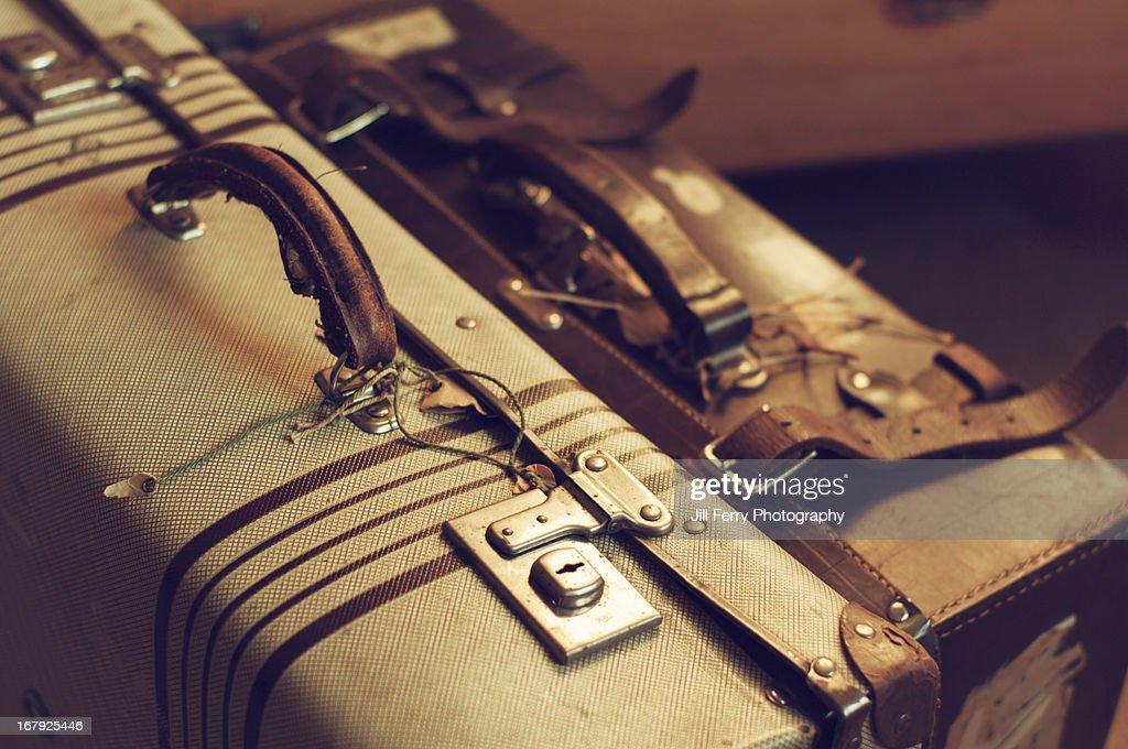 Vintage suitcases : Stock Photo