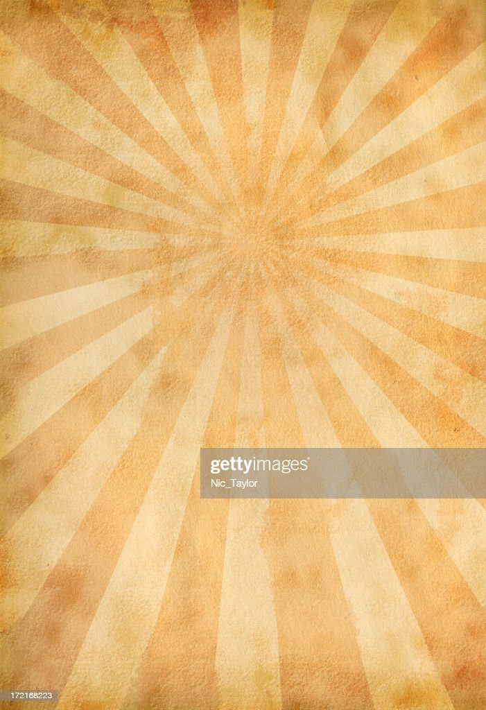 Vintage Sunburst Paper : Stock Photo